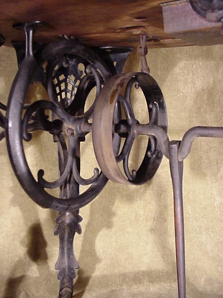 Antique fancy leg cast iron flat belt s florence