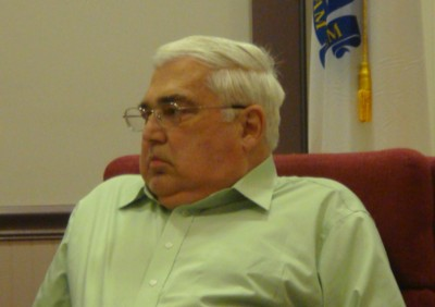 Earl Johnson sitting on the Board of Selectmen