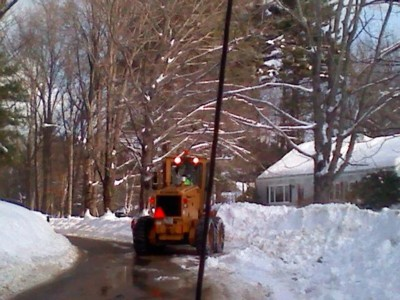 Heavy-Front-Loader-plowing-in-front-of-Earl-Johnson's-house-on-Hisgen-Road.