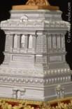 Pedestal, designed by Richard Morris Hunt to design and completed April, 1886.